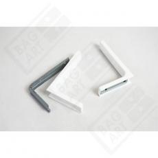 Kątownik z maskownicą 180mm biały